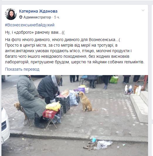 Порушення усіх санітарних норм та правил на стихійному ринку у Вознесенську, фото-1