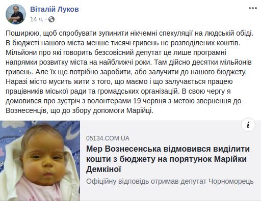 Віталій Луков вирішив скликати волонтерів для вирішення питання допомоги Марійці Демкіній, фото-1